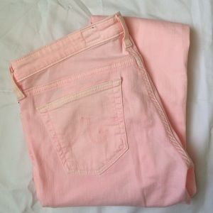 AG Light Pink Legging Jean