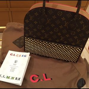 61a48d22394 LOUIS VUITTON 〰 CHRISTIAN LOUBOUTIN handbag NWT