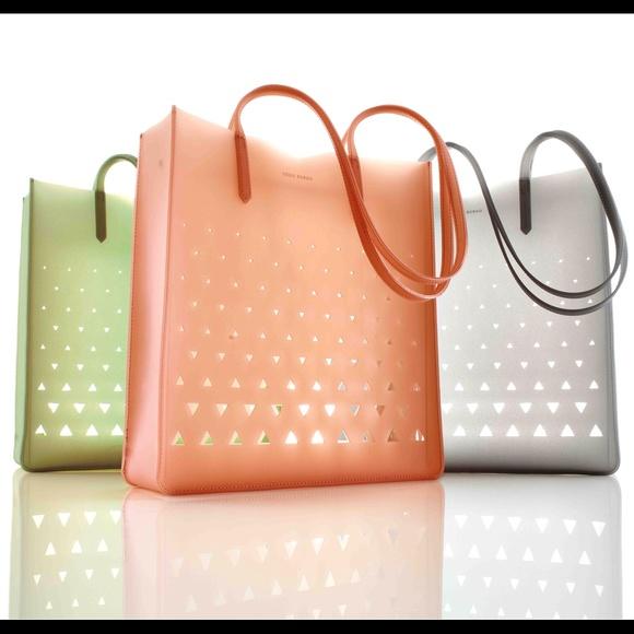 Eddie Borgo - BUNDLED - NEW Grey gray silicone jelly cutout bag ...