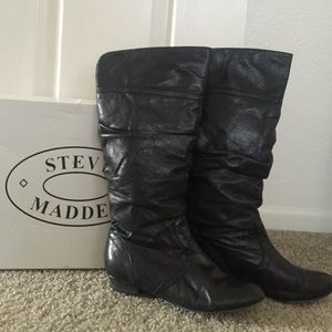 3eeea9f318a Steve Madden. Steve Madden Black leather Candence boots ...