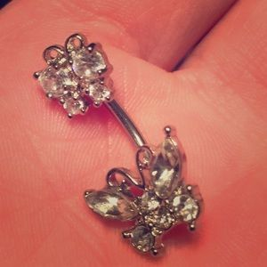 Jewelry - Butterfly belly button ring