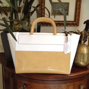 Alberta di canio Handbags - Leather Statement Satchel (dust bag included)
