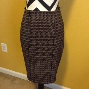 Great pencil skirt Mossimo sz2 tweed split in back