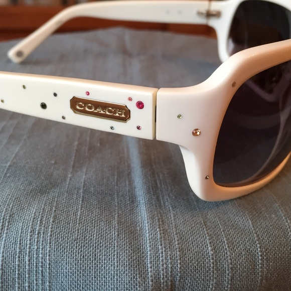 e01356ffb123 where to buy coach accessories coach white samantha sunglasses w crystals  s425 4511a 8f439