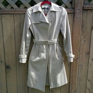 Kenneth Cole Khaki Trench Coat