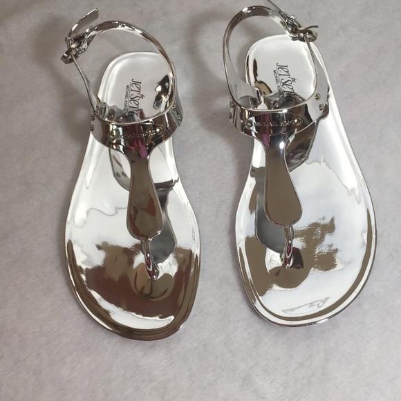 7ba51525b5818 Michael Kors Silver Metallic Sandals