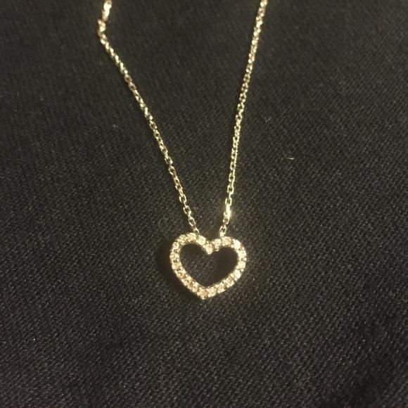 Zales Black Diamond Heart Necklace