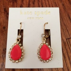 New Kate Spade pink Spring earrings