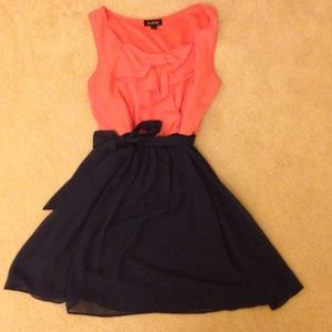 A. Byer Dresses & Skirts - Coral and Navy Sundress Size M