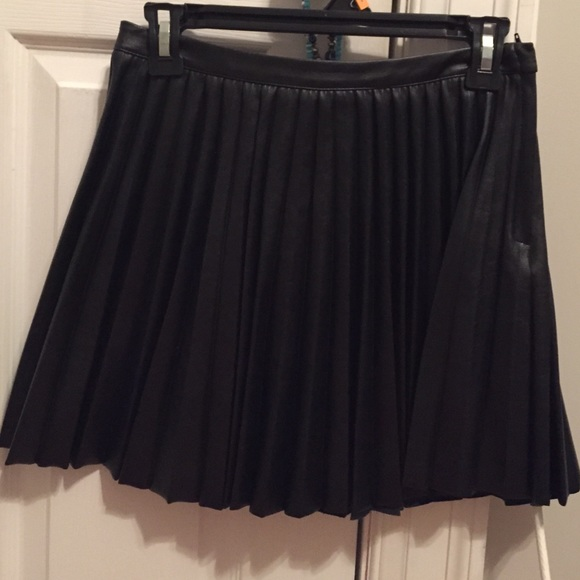 48 h m dresses skirts pleated leather skirt from