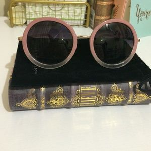 Charlotte Russe Accessories - Pink Round Sunglasses