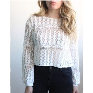 Sugarlips Tops - Sale! White Lace Top!