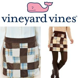 🐳 Vineyard Vines Corduroy Patchwork Skirt