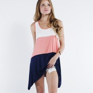 "LOWEST ""One True Love"" Colorblock Sleeveless Tunic"