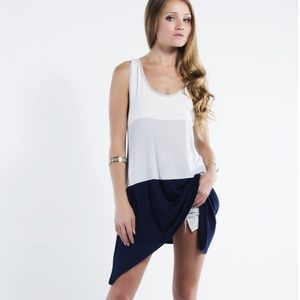 "Bare Anthology Tops - ""One True Love"" Colorblock Sleeveless Tunic"