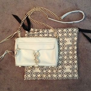 Rebecca Minkoff light blue Mini Mac purse