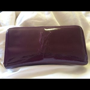 Ysl zip around patent wallet yves saint Laurent