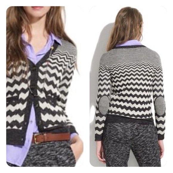 Madewell Sweaters - madewell // chevron graphic songstress cardigan