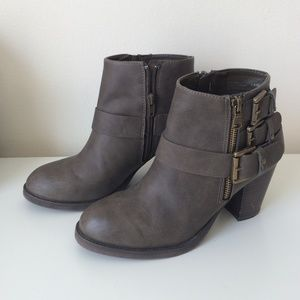 JustFab Shoes - Chunky booties with buckles