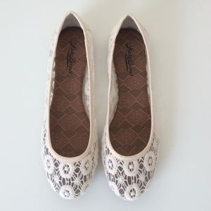 Lucky Brand Shoes - Cream Lace Ballet Flats