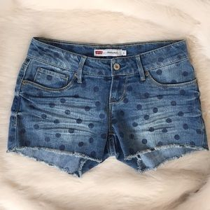 Levi's Pants - Levi's Polka Dot Denim Shorts