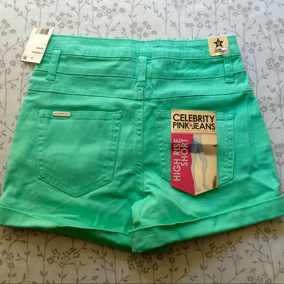 70% off Celebrity Pink Pants - Celebrity Pink Green High Waisted ...