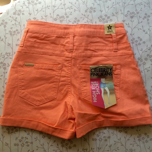 70% off Celebrity Pink Pants - New High Waisted Shorts in Bright ...