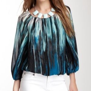 Vince Camuto Tops - Vince Camuto Brushstroke Peasant Blouse