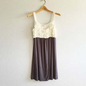 Dresses & Skirts - Cream/grey dress