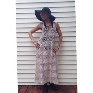 Cotton Crocheted Dress / Coverup Size 2
