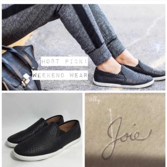 Joie Leather Slip-On Sneakers 4HJN2xZ4