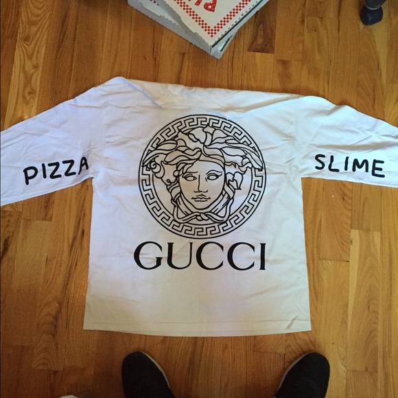 4d2837b86b6 Pizza slime Gucci Louis Vuitton Chanel long sleeve