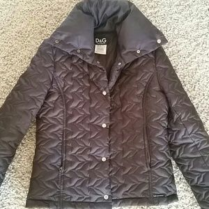 Vintage Dolce & Gabbana quilted winter coat