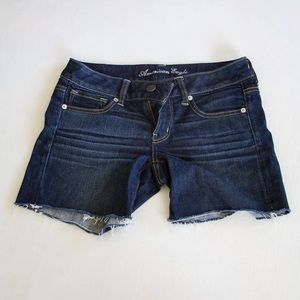 American Eagle Outfitters dark rinse denim shorts