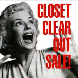 Closet Clear Out Sale