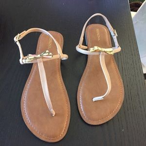 Merona Shoes - Merona Tan & Gold Bow Sandals Target