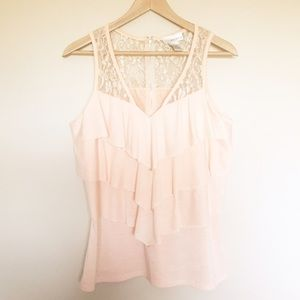 Kenar Tops - Pink Top with Lace
