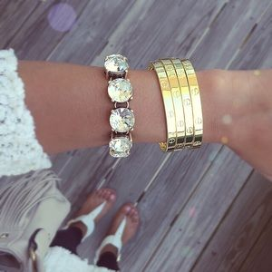 Jewelry - 18KGP Gold love bracelet bangles
