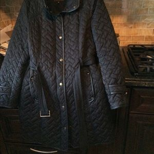 Cole Haan M Black Quilted Coat