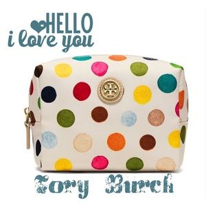 HP 4/24Tory Burch Dots Brigitte Cosmetic Case
