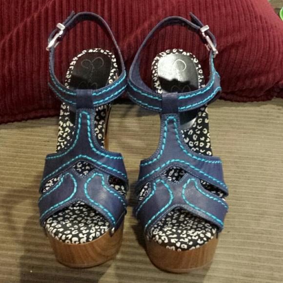 d116634e5761 Jessica Simpson Shoes - Jessica Simpson Wenda Platform Sandals-Blue-Size 8