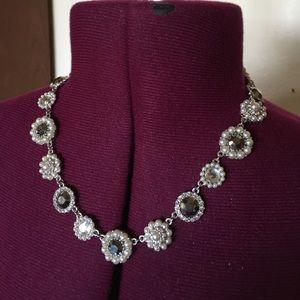 Jewelry - Rhinestone Pearl Sparkle Costume Jewelry Necklace