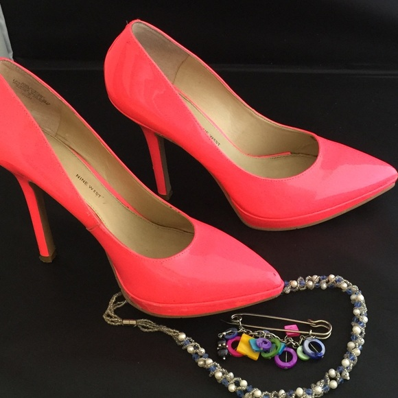 64 nine west shoes pink neon nine west shoes in