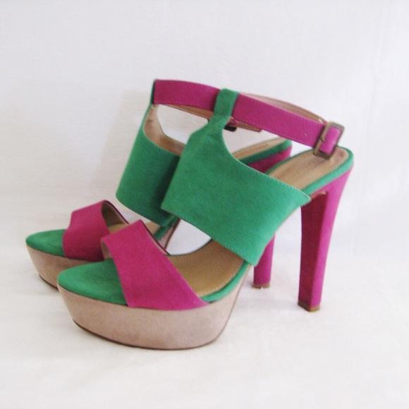 7cbf4878e82 Color Block Sexy Platform Heels. M 5529a77678b31c1ac7009af5