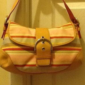 Coach hand bag purse with leather trim FLASH SALE