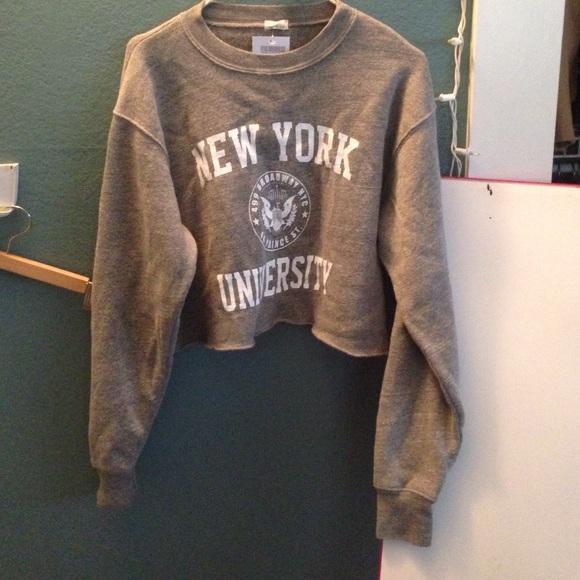 Brandy Melville Jackets Coats New York University Crop Sweater