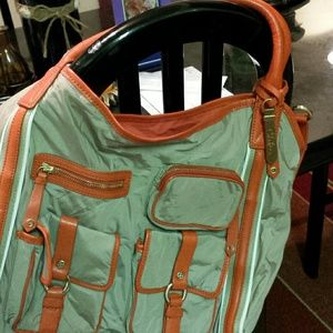 Cole Haan Tan and Orange bag