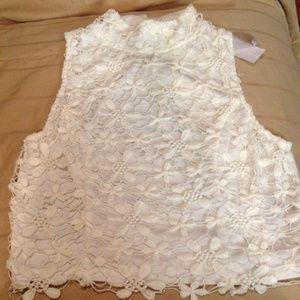 Charlotte Russe - Ivory lace top