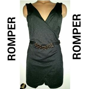 Pants - SOLD!! Black Skort Romper