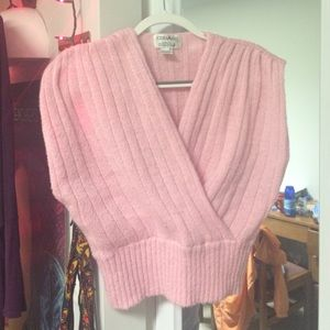 Vintage Baby Pink Sweater Vest
